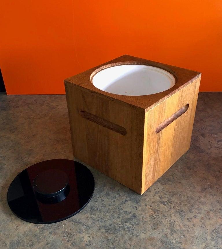 Midcentury Teak Ice Bucket by Morgan Designs For Sale 1
