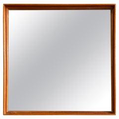 Midcentury Teak Mirror by Uno & Osten Kristiansson for Glas Mäster