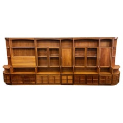 Midcentury Teak Modular 7 Part Wall Unit by Nathan Furniture