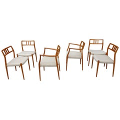 Midcentury Teak Moller Chairs Model 79