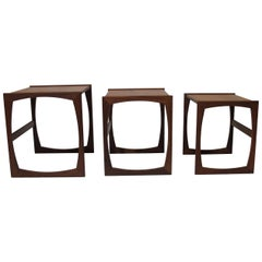 Midcentury Teak Nesting Side Tables