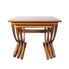 Midcentury Teak Nesting Tables from Nathan, 1970s
