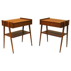 Midcentury Teak Night/Bed/Side Tables by Ab Carlström & Co, Sweden, 1950s-1960s