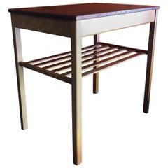 """Midcentury Teak One Drawer """"Joker"""" Side Table by Tingstroms"""