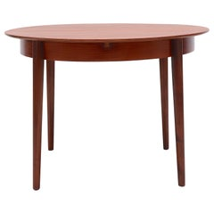 Midcentury Teak Pastoe Dining Table with Hidden Leaf
