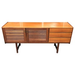 Midcentury Teak Sideboard with Louvre Doors by Tom Robertson for A.H. McIntosh