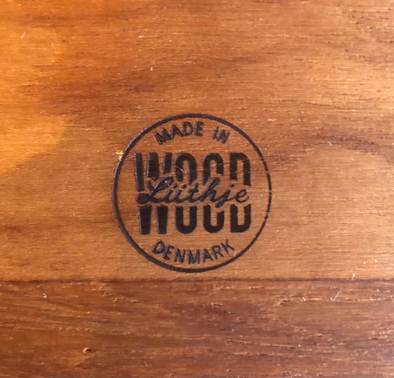 Midcentury Teak Tray / Cheese Board with Dome by Luthje Wood of Denmark For Sale 4