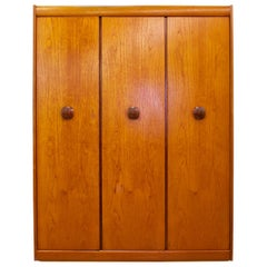 Midcentury Teak Triple Door Wardrobe by Elliots of Newbury, 1960s