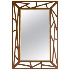 Midcentury Teak Wall Mirror from Eden Spegel