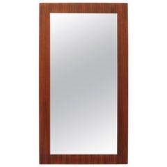 Midcentury Teak Wall Mount Mirror