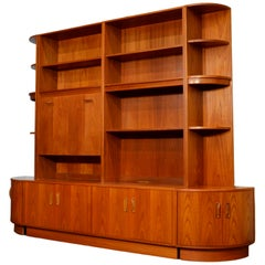 Midcentury Teak Wall Unit by G Plan