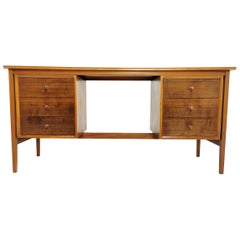 Midcentury Teak & Walnut Vanson Desk, 1950s-1960s