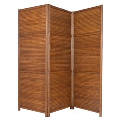 Midcentury Teak Wood Screen Divider