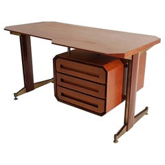Midcentury Teak Writing Desk Made in Italy