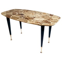 Midcentury Terrazzo Coffee Table Produced Italy