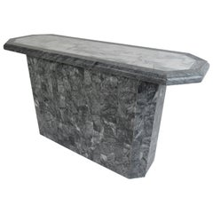 Midcentury Tessellated Stone Console Table
