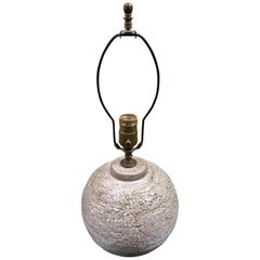 Midcentury Textured Orb Shaped Ceramic Lamp in the Style of Design Technics