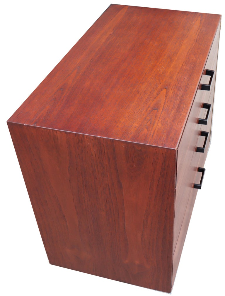 Metal Midcentury Thin Edge Cabinet by George Nelson For Sale