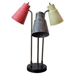 Midcentury Three Arm Fiberglass Lamp