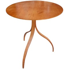 Midcentury Three Legged Table in Teakwood