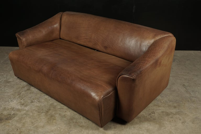 Midcentury Three-Seat Sofa Manufactured by De Sede, Switzerland, Model DS 47 In Good Condition For Sale In Nashville, TN