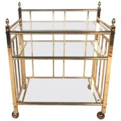 Midcentury Three-Tier Bar Cart