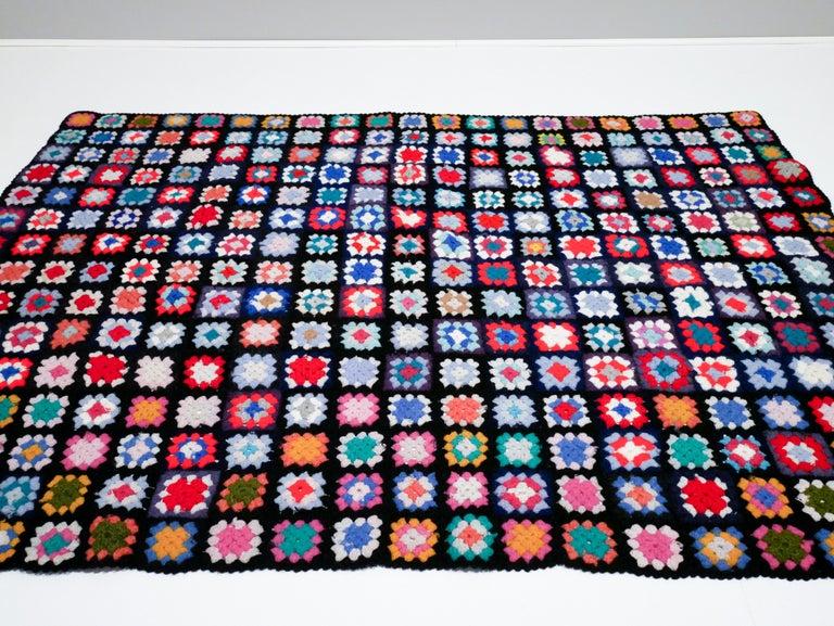 Mid-Century Modern Midcentury Throw, Blanket, Handmade in Sweden, 1950s For Sale
