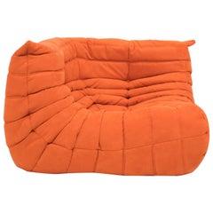 Midcentury Togo Orange Corner Sofa by Michel Ducaroy for Ligne Roset