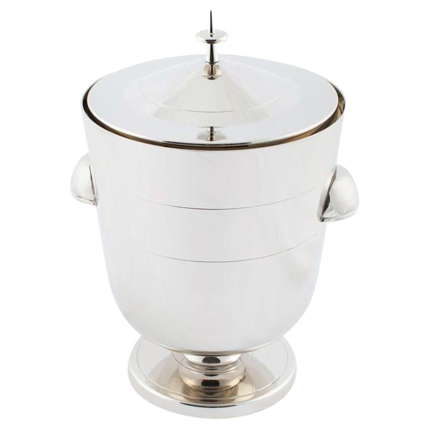 Midcentury, Tommi Parzinger Nickel Ice Bucket