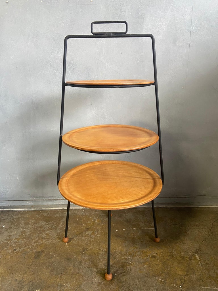 Midcentury Tony Paul Three-Tier Stand For Sale 3