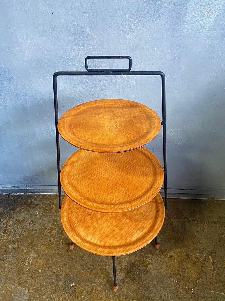 Mid-Century Modern Midcentury Tony Paul Three-Tier Stand For Sale
