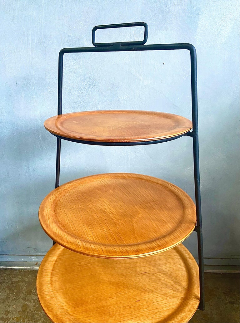 American Midcentury Tony Paul Three-Tier Stand For Sale