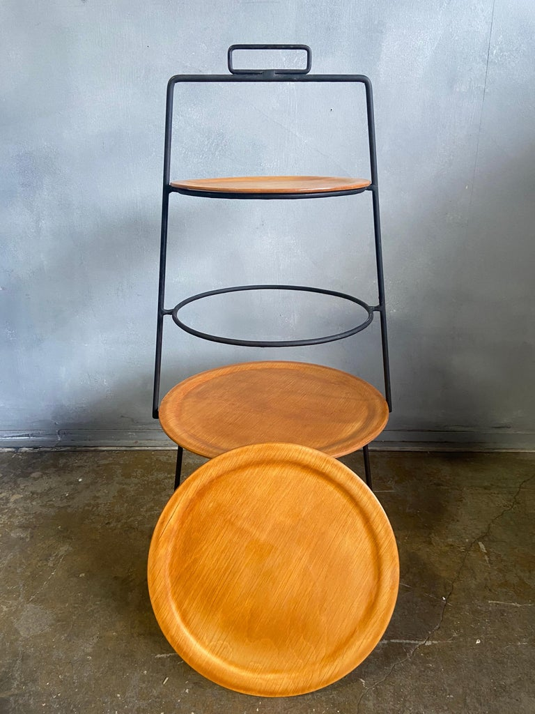 20th Century Midcentury Tony Paul Three-Tier Stand For Sale