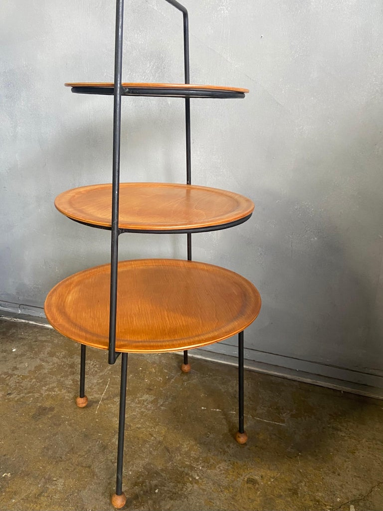 Midcentury Tony Paul Three-Tier Stand For Sale 1