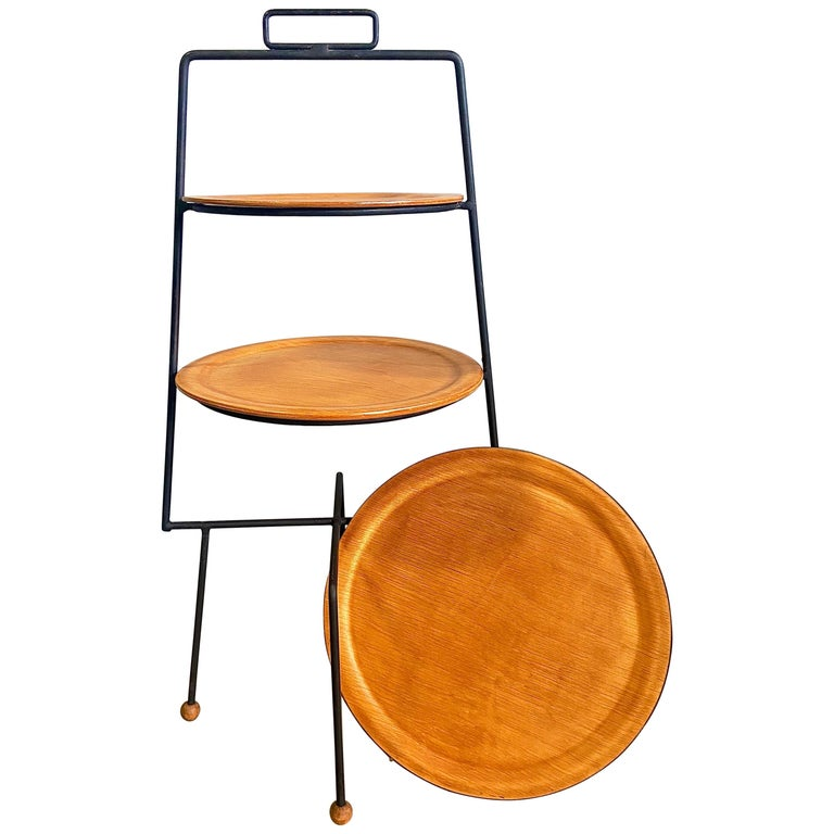 Midcentury Tony Paul Three-Tier Stand For Sale