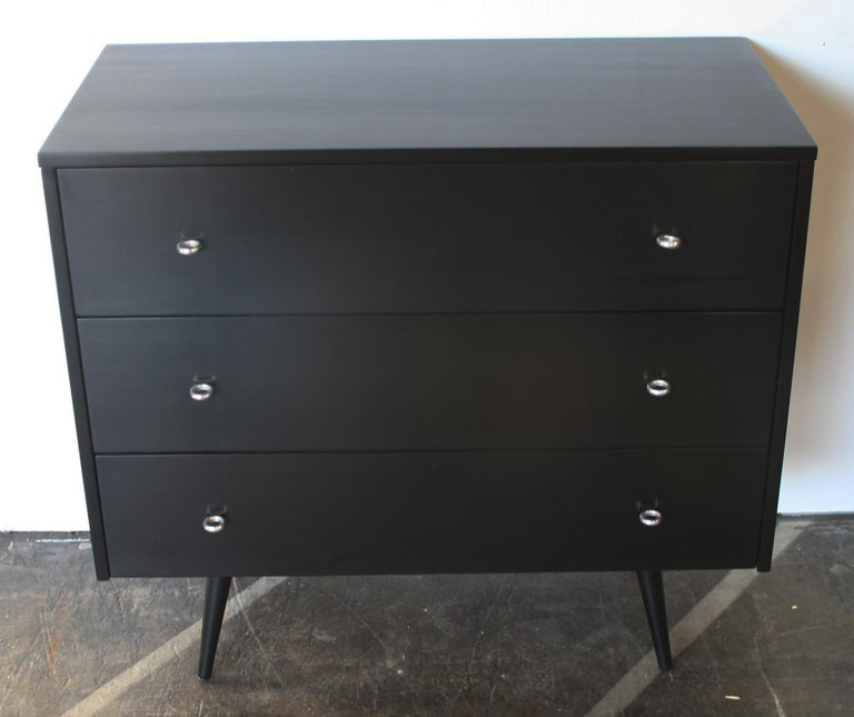 Mid-Century Modern Midcentury Tripe Dresser by Paul McCobb, circa 1950 Planner Group #1508 Black For Sale