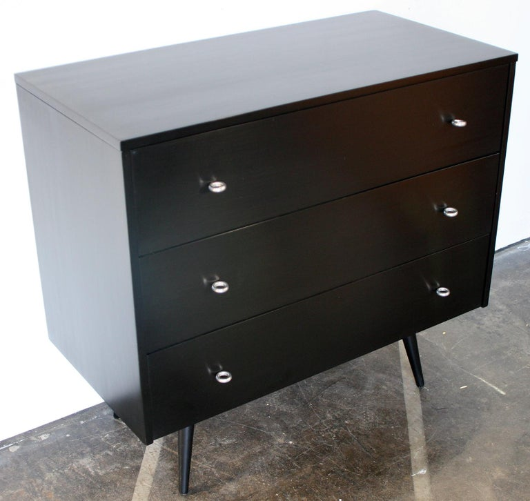 American Midcentury Tripe Dresser by Paul McCobb, circa 1950 Planner Group #1508 Black For Sale