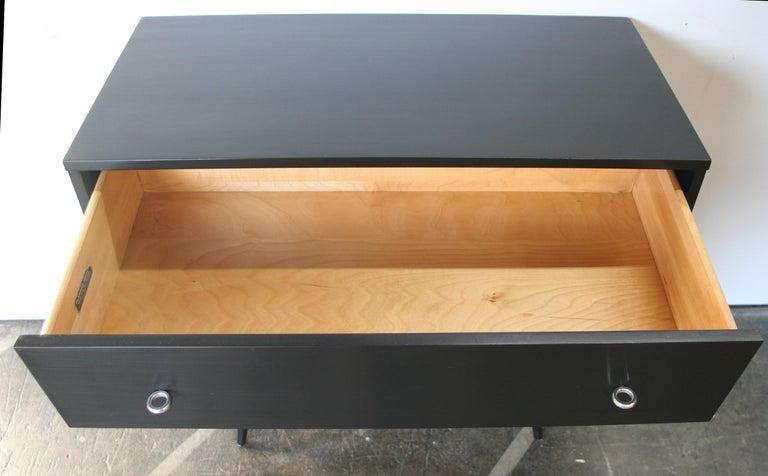 Aluminum Midcentury Tripe Dresser by Paul McCobb, circa 1950 Planner Group #1508 Black For Sale