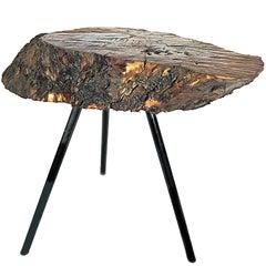 Midcentury Tripod Aubock Style Tree Trunk Table, 1960s, Austria