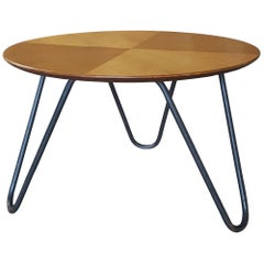 Midcentury Tripod Coffee Table by Jacques Hitier Ed Tubauto, France, 1950s