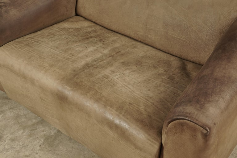 Midcentury Two-Seat Sofa Manufactured by De Sede, Switzerland In Good Condition For Sale In Nashville, TN