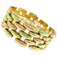 Midcentury Two-Tone Gold Bracelet