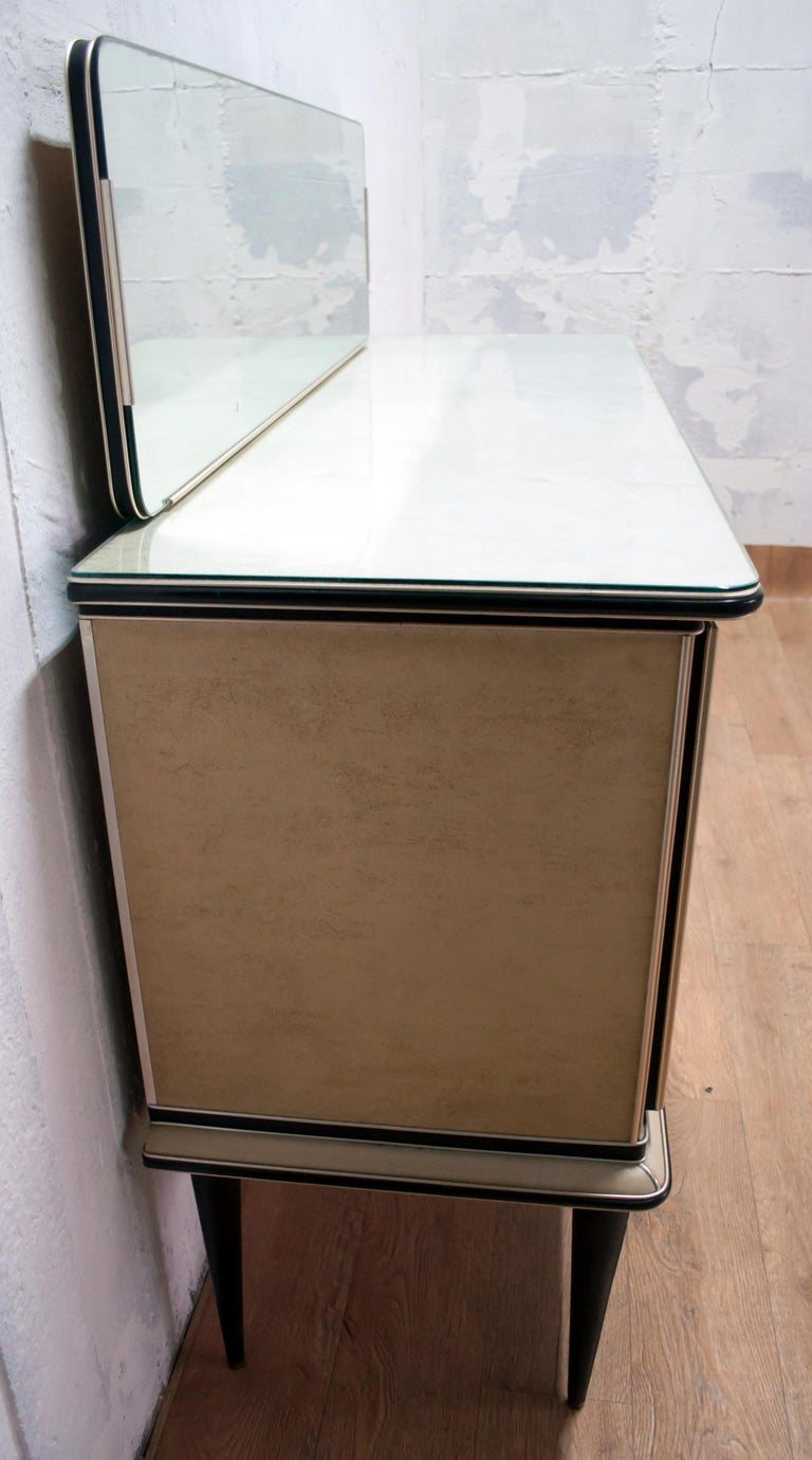 Umberto Mascagni for Harrods London Midcentury Italian Bar Cabinet, 1950s For Sale 7