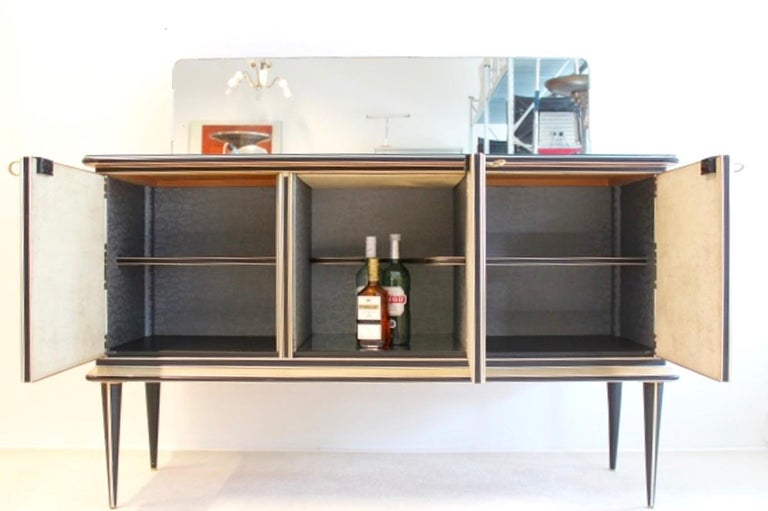 Midcentury Umberto Mascagni Bar Cabinet for Harrods London, 1950s In Good Condition For Sale In Voorburg, NL