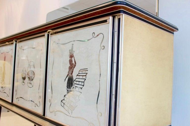 Midcentury Umberto Mascagni Bar Cabinet for Harrods London, 1950s For Sale 1