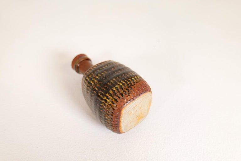 Midcentury Unique Stig Lindberg Ceramic Vase and Bowl Gustavsberg Sweden, 1960s For Sale 12