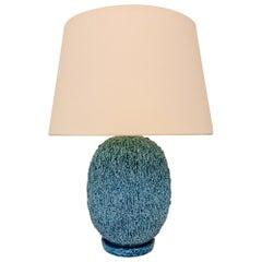 "Midcentury Unusual Large Table Lamp ""Chamotte"" Gunnar Nylund Rörstrand, Sweden"