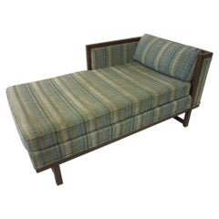 Midcentury Upholstered Chaise Lounge Chair by Flair / Bernhardt