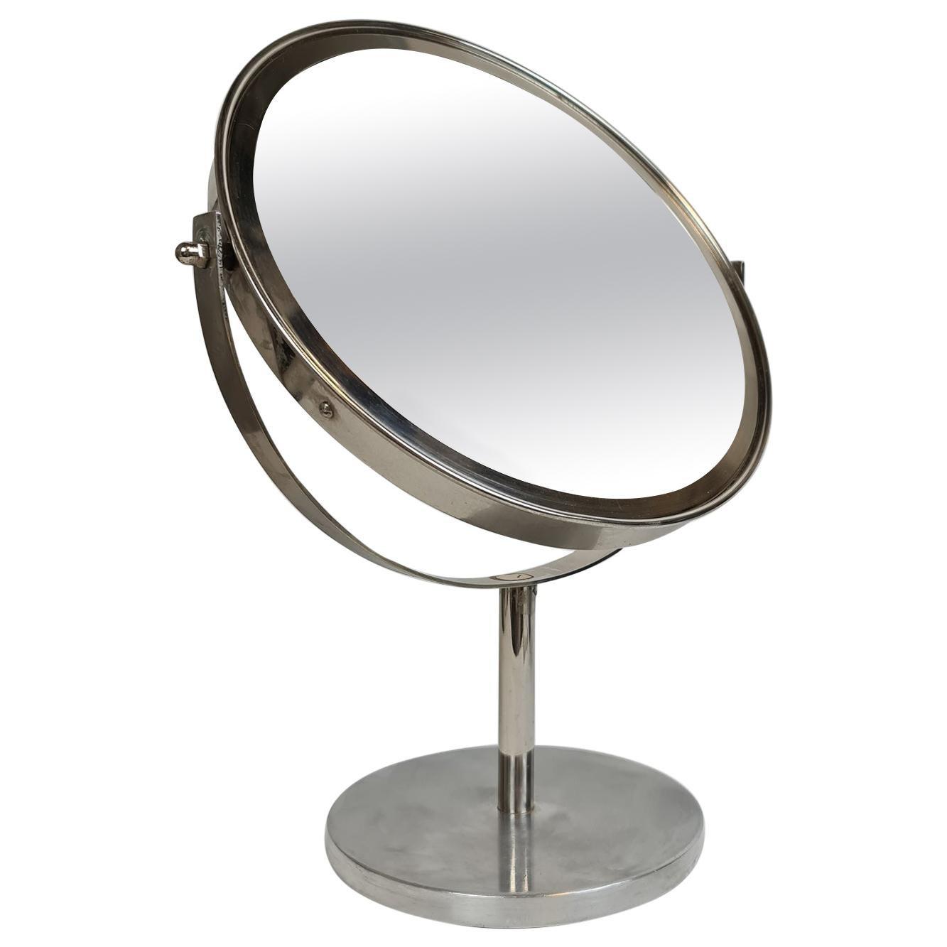 Midcentury Vanity Hans-Agne Jakobsson Chrome Table Mirror, Sweden
