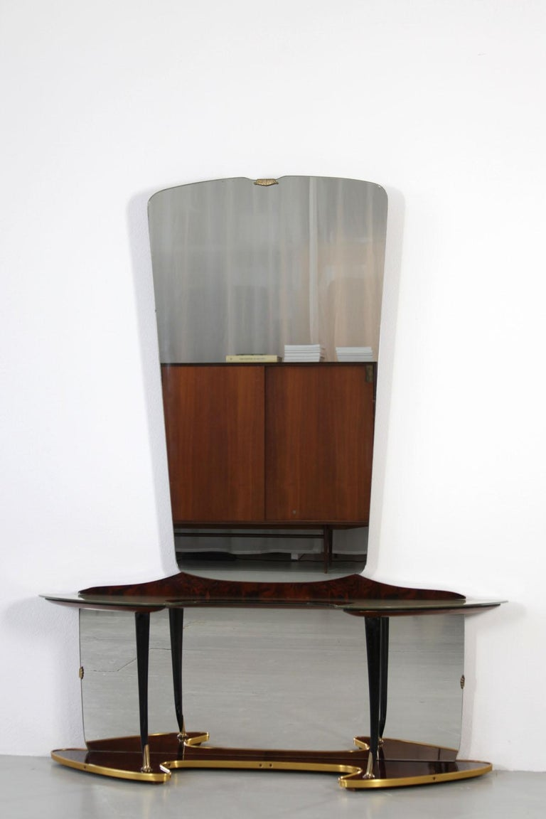Midcentury Vanity with Opulent Base For Sale 2